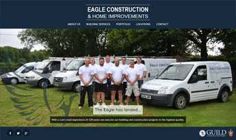 Eagle Construction Responsive Website Design